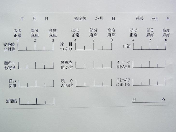 40点法(柳原法)記録シート
